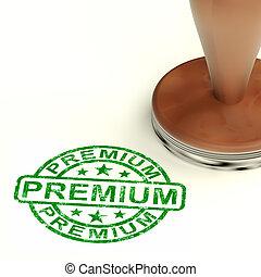 Premium Stamp Showing Excellent Superior Premium Product