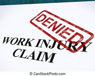 Work Injury Claim Denied Shows Medical Expenses Refused -...