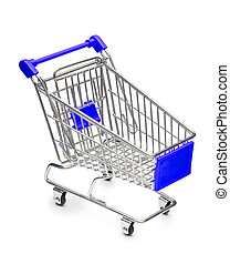 Empty Shopping Cart - Empty shopping cart with small shadow...