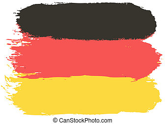 Flag of Germany, vector illustration