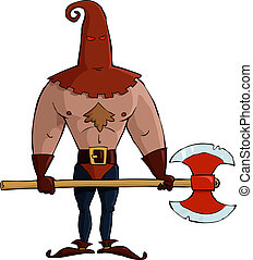 Executioner - The executioner on a white background vector...