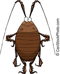 Cockroach on a white background vector illustration