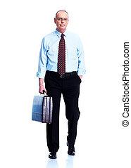 Mature executive businessman - Handsome smiling businessman...
