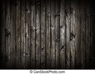 Black wooden planking background