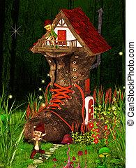 Mushroom House - Dwarfs land, Mushroom house, dreamyland