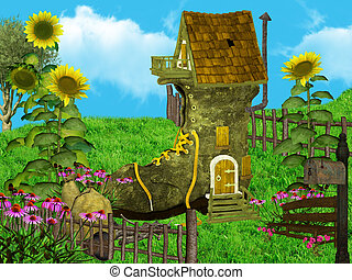 Fantasy house - Dwarfs land, , dreamyland