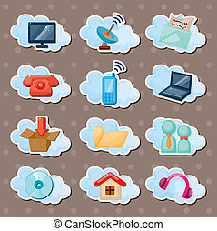 cloud web stickers