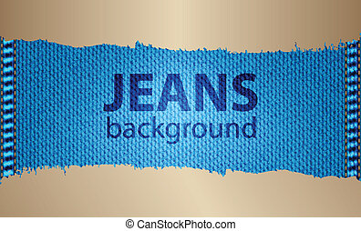 special jeans background with metallic design