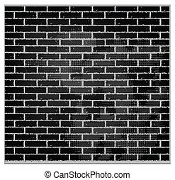 pattern texture brick wall black color - pattern vector...