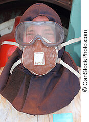 Personal protection equipment - an engineer / cleaner...