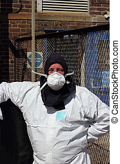 Personal protection equipment - an engineer cleaner wearing...