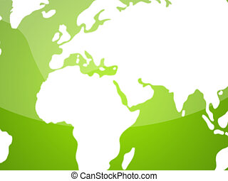 Green-White Globe Map background - Abstract background for...