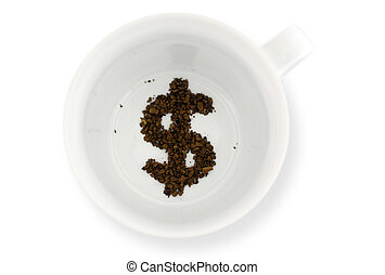Fortune telling in coffee reading - Coffee grounds reads the...