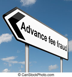 Advance fee fraud concept - Illustration depicting a road...