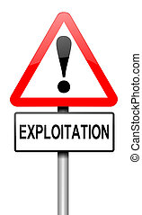 Exploitation concept. - Illustration depicting a road...