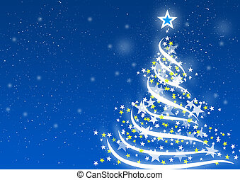 Christmas background Blue - Abstract background for...