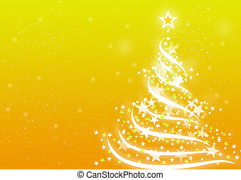 Christmas background Yellow - Abstract background for...