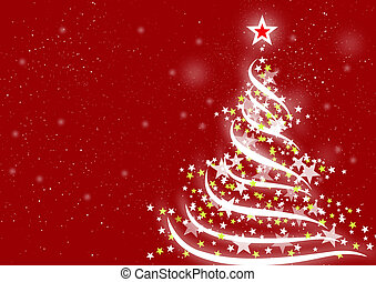 Christmas background Red - Abstract background for...