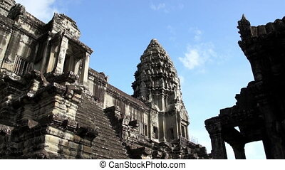 Angkor Wat - Entrance to Angkor Wat tower, Siem Reap,...