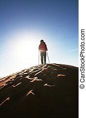 In desert - Man in desert