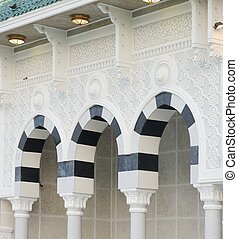 Makkah Kaaba pillars outdoors - Islamic Holy Place