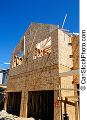 New Home Construction - A New Home Under Construction In...