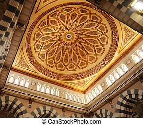 Makkah Kaaba mosque indoors pillars decoration - Islamic...