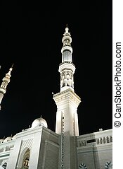 Medina Mosque at night - Prophets Mosque at Madina