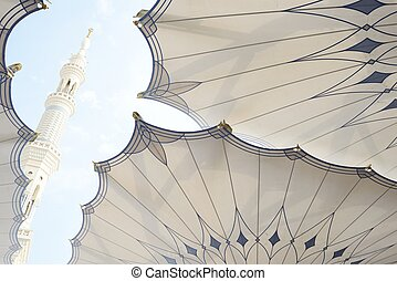 Islamic Holy Mosque at Madina