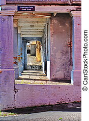 Purple Arches of St. Croix, USVI - The architecture of St....