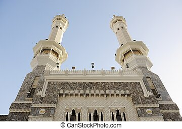 Makkah Kaaba minarets - Islamic Holy Place - series of the...
