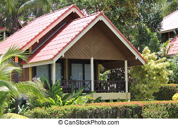 bungalow of the island of Koh Samui, Thailand, Southeast...