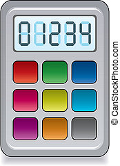 vector colorful calculator