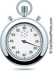 vector silver stopwatch - vector design of silver stopwatch
