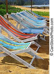 Deckchairs - Empty deckchairs