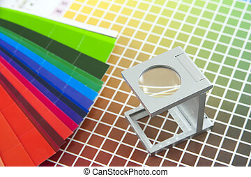 Linen tester on color chart