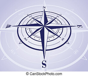 Compass Rose - Compass rose with reflection. Vector...