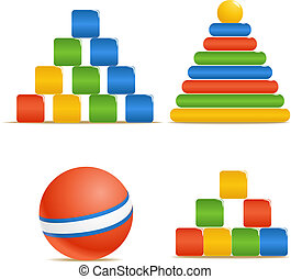Wood color toys