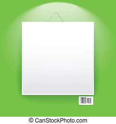 Blank frame on the green wall