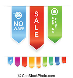 Color banners - Vector