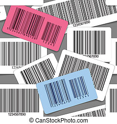 barcodes seamless background
