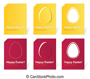 Happy Easter holiday cards set