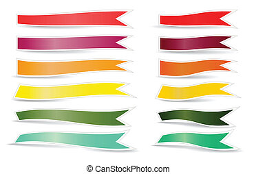 Decorative color ribbons. Different sizes