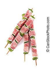 raw skewer