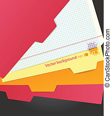 Background of color paper sheets