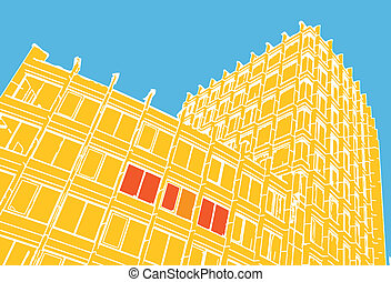 Composition of abstract building
