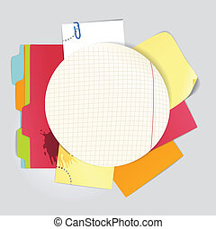 color office stuff - Circular background of an color office...