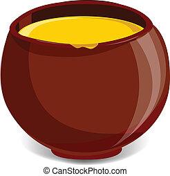 Pot full of honey