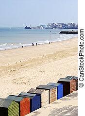 Niewidzenie, Barwny, chaty, Port,  margate, Plaża