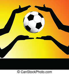 ball between your hand illustration art vector